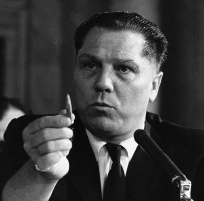 Teamsters Union President Jimmy Hoffa